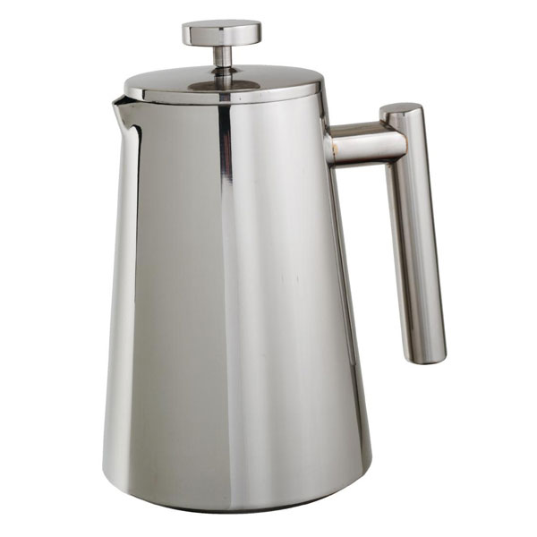 Cafetieres, Stainless, double wall 6 x cups