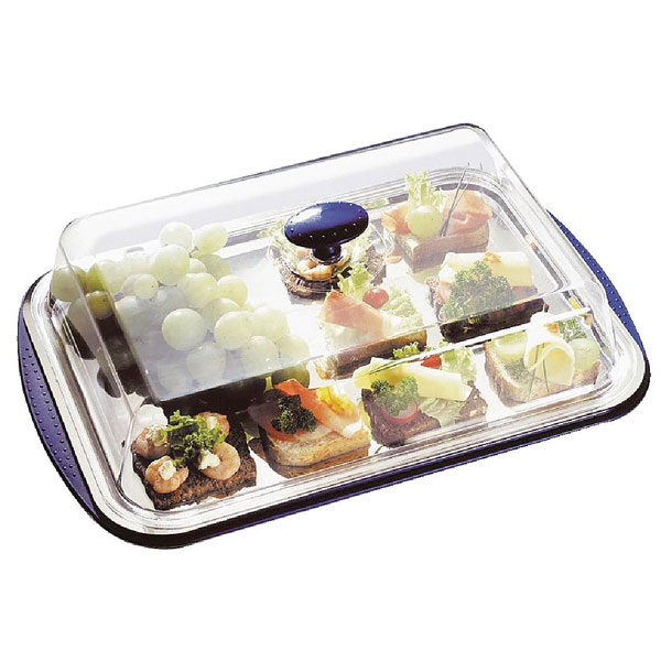 Chilling Display Tray & Cover 5 piece tray and cover set.