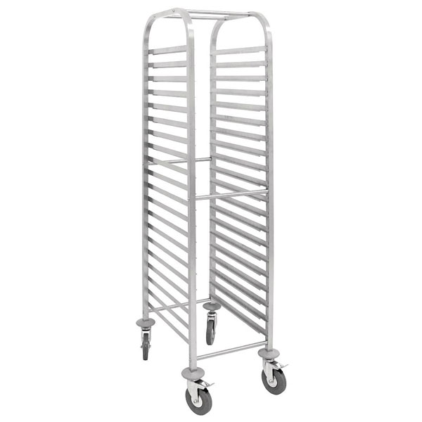 Gastronorm Racking Trolley - Stainless Steel