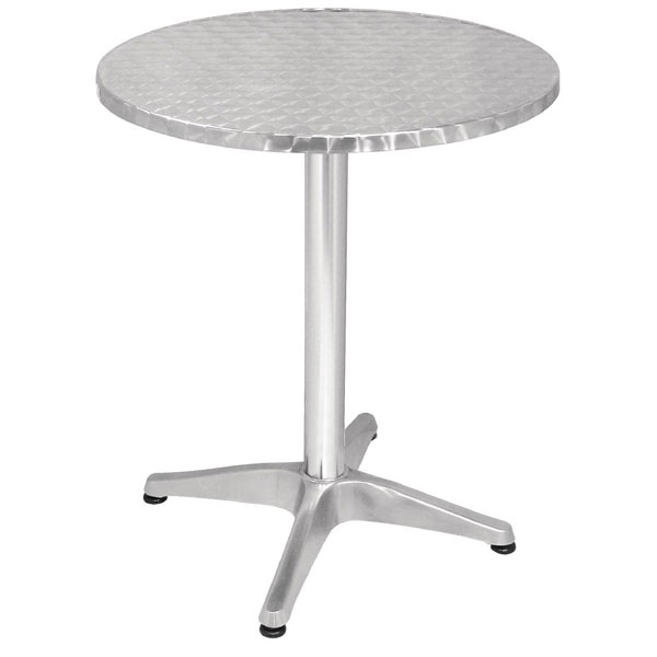 Stainless Cafe / Bistro round table 800mm dia (tables)
