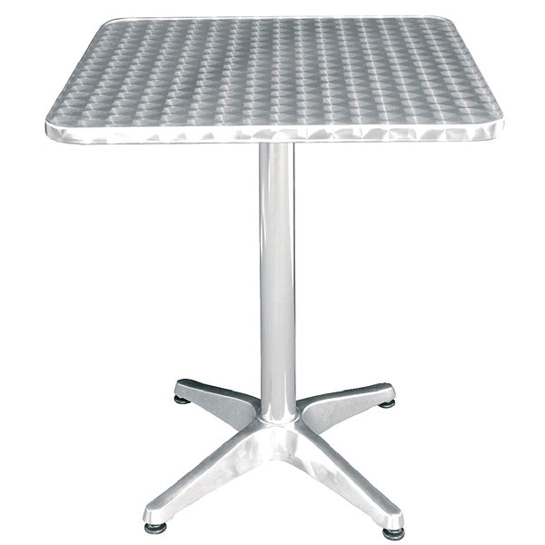 Bistro Table Square  Stainless St. (tables)