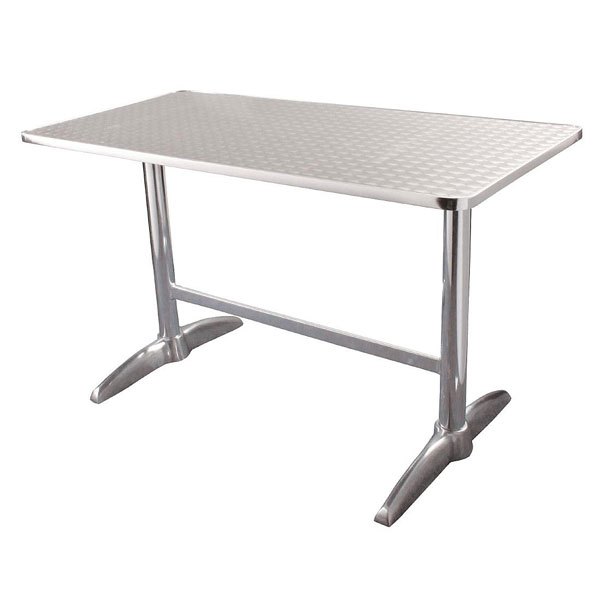 Double Pedestal Table. 120 x 60cm. Stainless steel (tables)