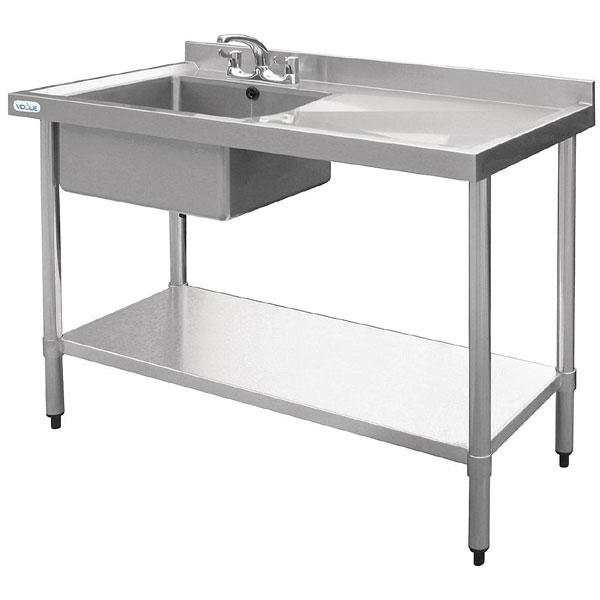 "Sink unit ""New Economy\"" 1000x600mm L/H bowl, R/H drainer (sinks)"