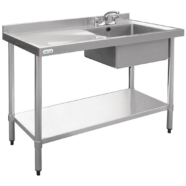 "Sink unit ""New Economy"" 1200x600mm R/H bowl, L/H drainer (sinks)"