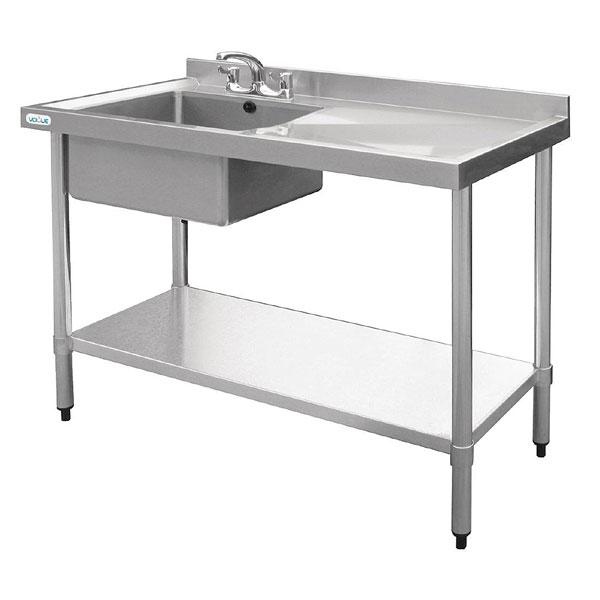 Kitchen Sink Unit Sizes: Sink Unit New Economy 1200x600mm L H Bowl R H Drainer