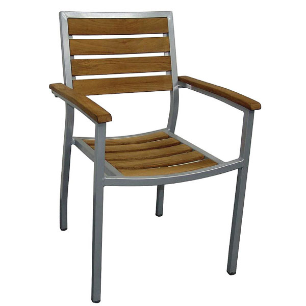AluTeak Range - Indoor / Outdoor Teak Chair Set Qty 4.