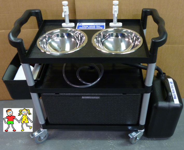 Portable Childs Mobile Hand Wash Sink Unit - Ideal for Playgroup