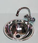 Hemispherical Sink KIT stainless 360mm dia 150mm deep (round sinks) normal