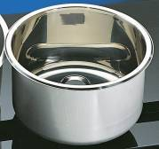 Cylindrical Sink Stainless 300mm dia 180mm deep (round sinks) HTM 64