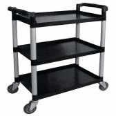 Three tier clearing trolley - polypropylene 1035x495x910