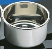 Cylindrical Sink Stainless 300mm dia 120mm deep (round sinks) HTM 64